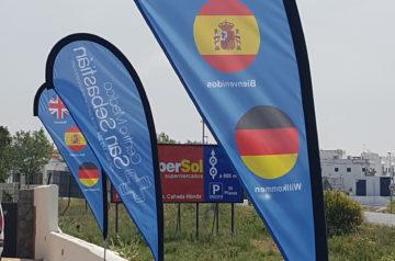 banderas gota deportivas